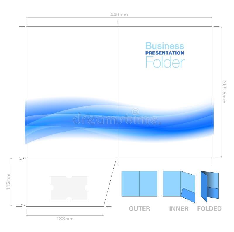 Dossier A4, calibre de présentation avec le graphique de fond d'écoulement, C illustration libre de droits