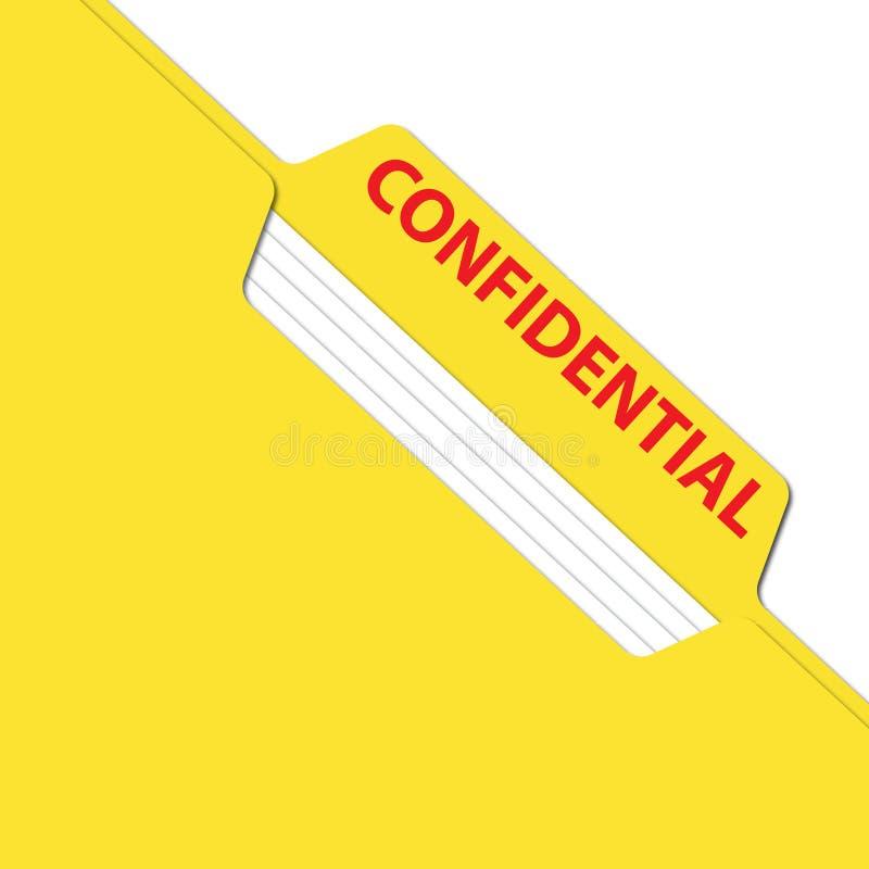 Dossier confidentiel d'affaires photos libres de droits