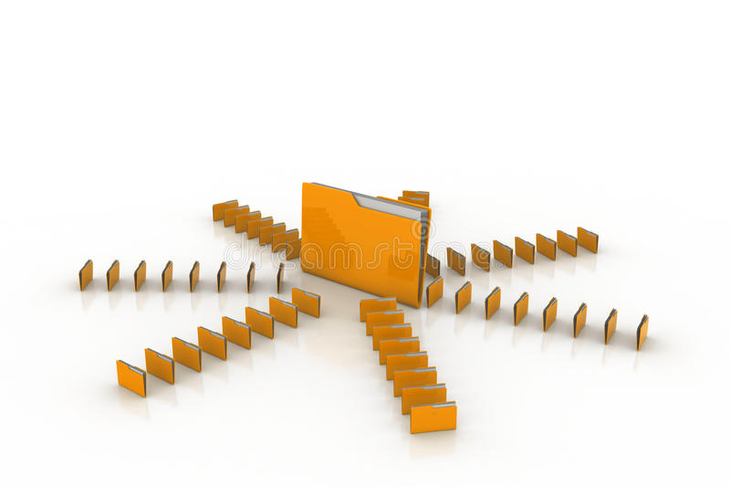 Dossier d'ordinateur illustration stock