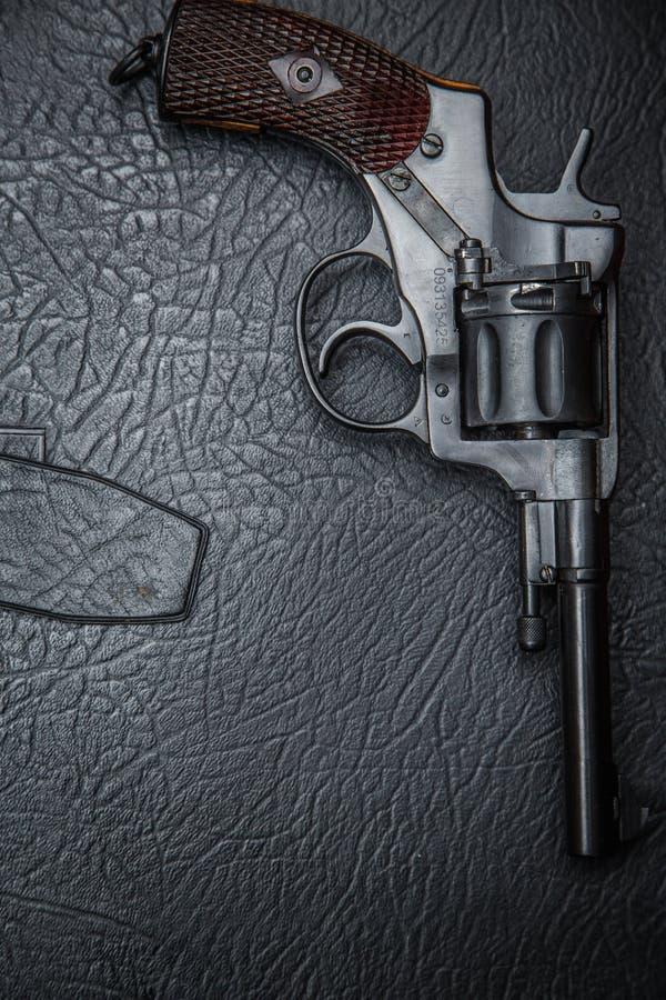 Dossier de cuir de 'du ¾ Ñ du revolver Ð photographie stock