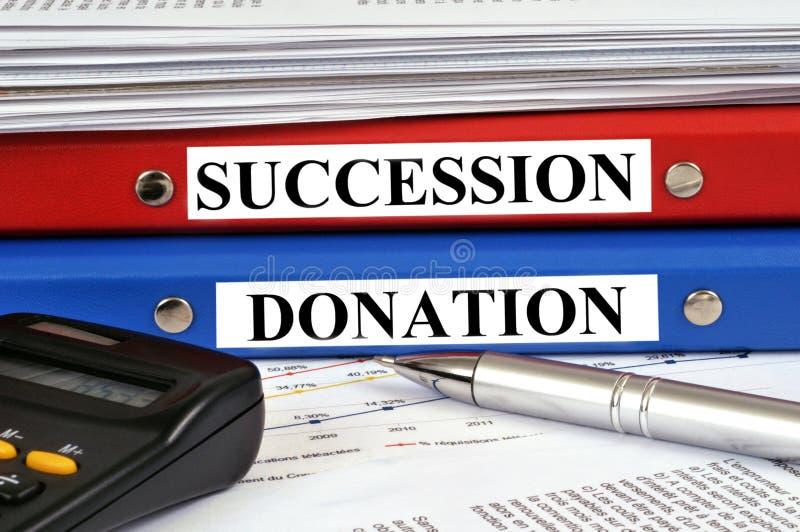 Dossier de domaine sur le dossier de donation illustration libre de droits