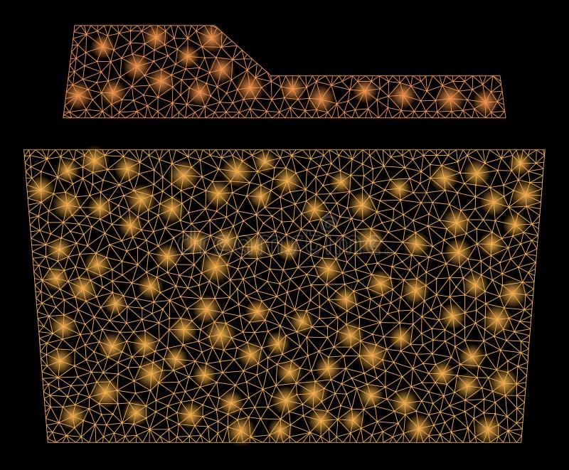 Dossier de maille de fusée 2D avec des taches de fusée illustration stock