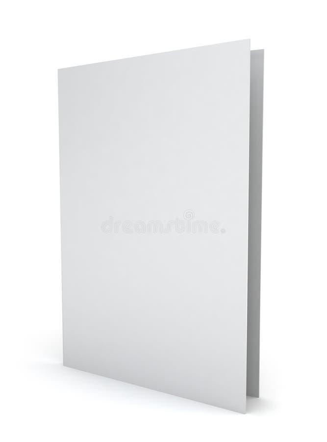 Dossier de papier blanc illustration stock