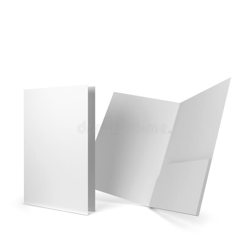 Dossier de papier blanc illustration libre de droits