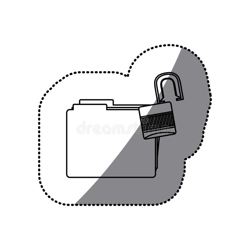 Download Dossier De Silhouette D'autocollant Avec Le Paclock Ouvert Illustration Stock - Illustration du keyhole, casier: 87704143