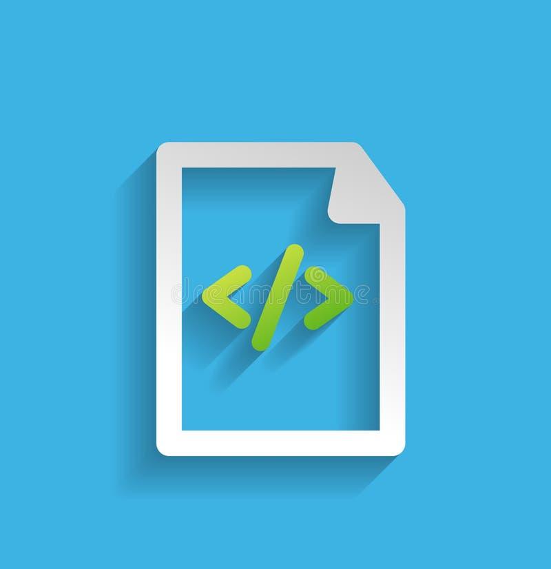 Dossier de vecteur/icône plate de programme illustration stock