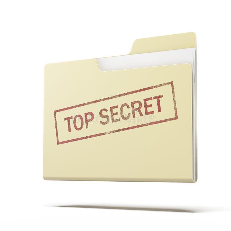 Dossier extrêmement secret illustration stock