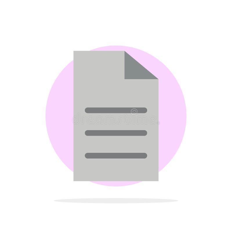 Dossier, Gegevens, Gebruiker, van de Achtergrond interface Abstract Cirkel Vlak kleurenpictogram royalty-vrije illustratie