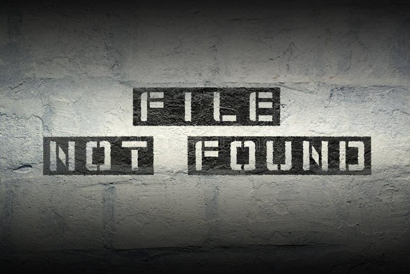 Dossier gevonden niet gr. stock foto
