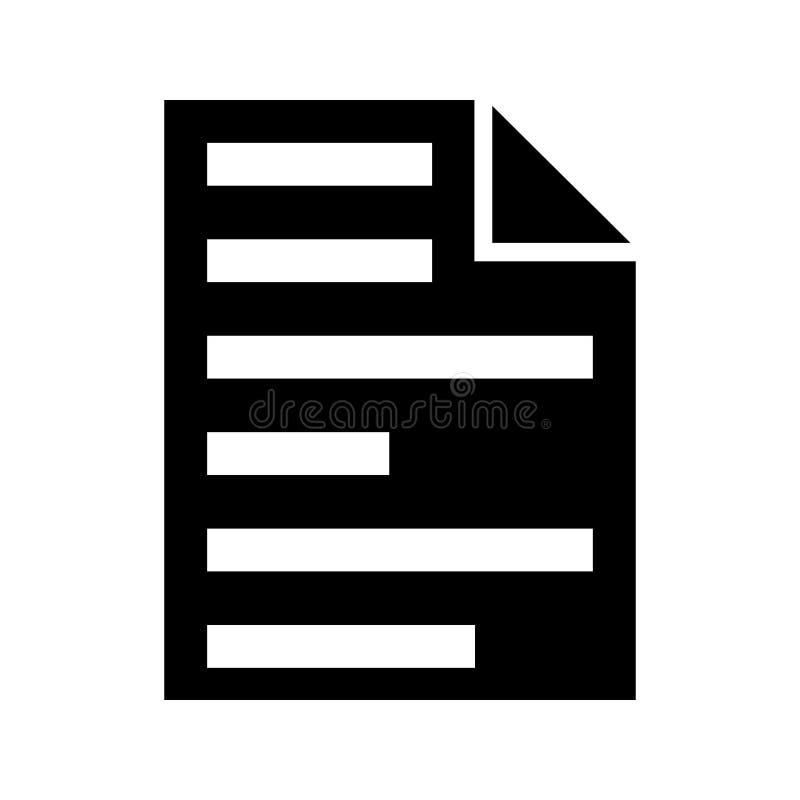 Dossier glyph vlak vectorpictogram vector illustratie