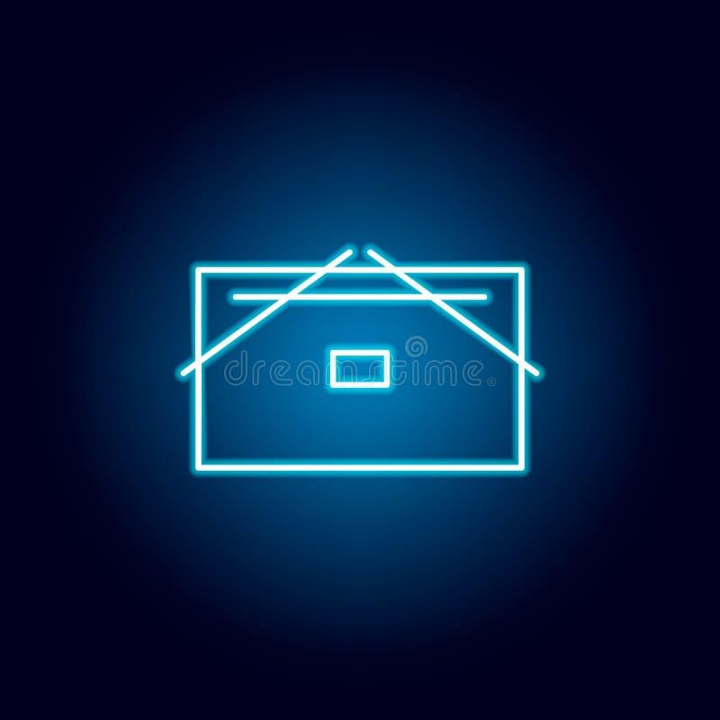 dossier, icône d'ensemble de stockage de données dans le style au néon éléments de ligne icône d'illustration d'éducation des sig illustration de vecteur
