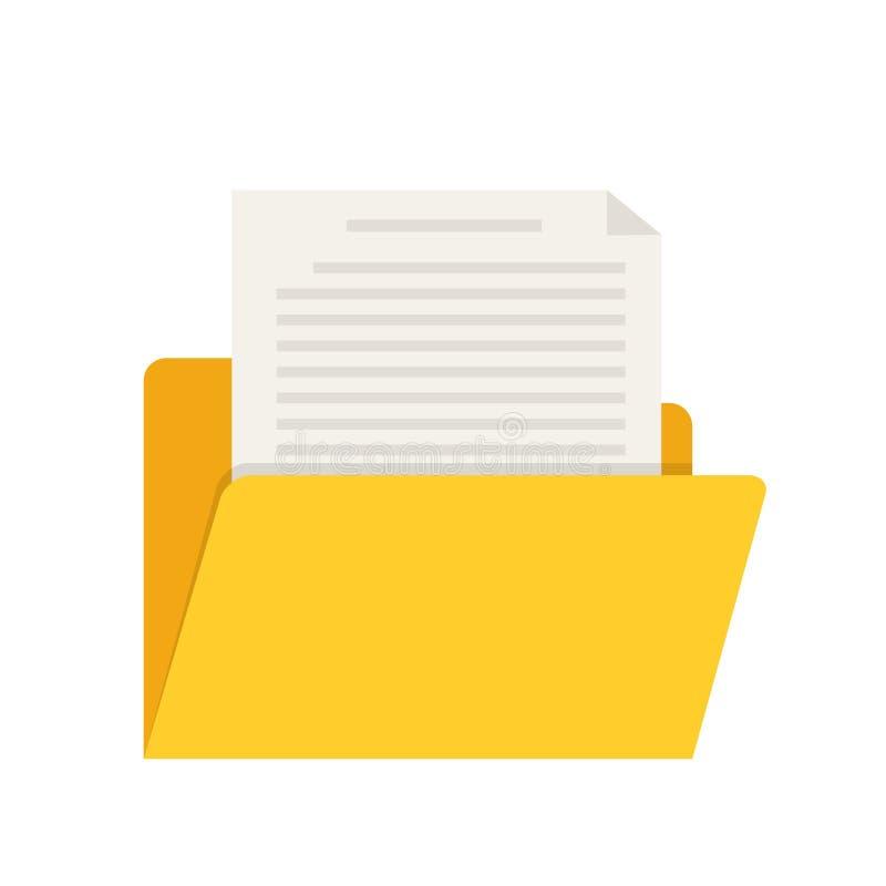 Dossier jaune d'ordinateur de Web pour la conception sur l'illustration blanche et courante de vecteur illustration de vecteur