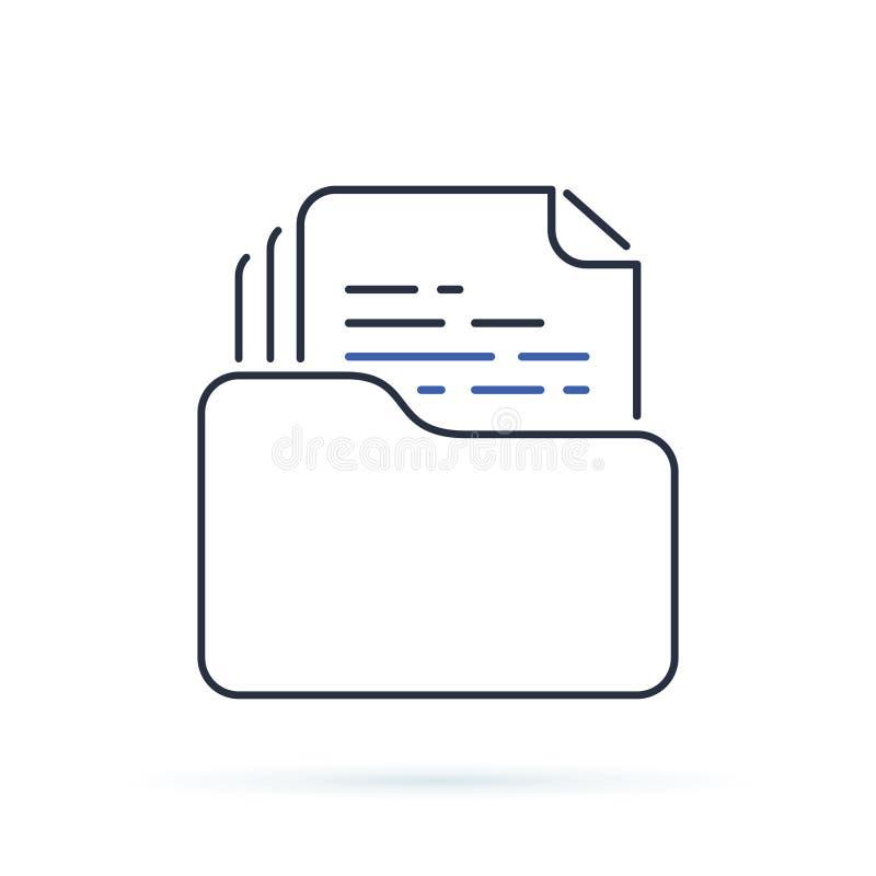 Dossier konturu skoroszytowa ikona liniowy stylu znak dla mobilnego concep ilustracji