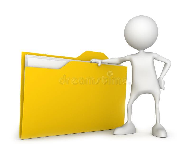Dossier met document stock illustratie