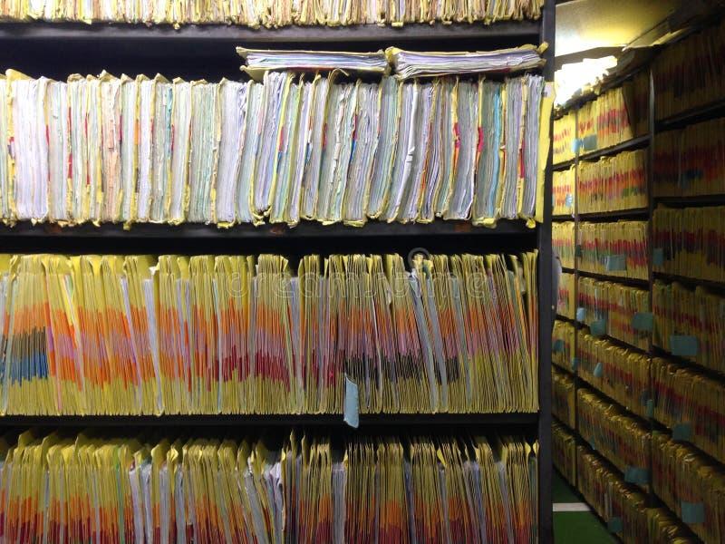 Dossier patient de l'information image libre de droits