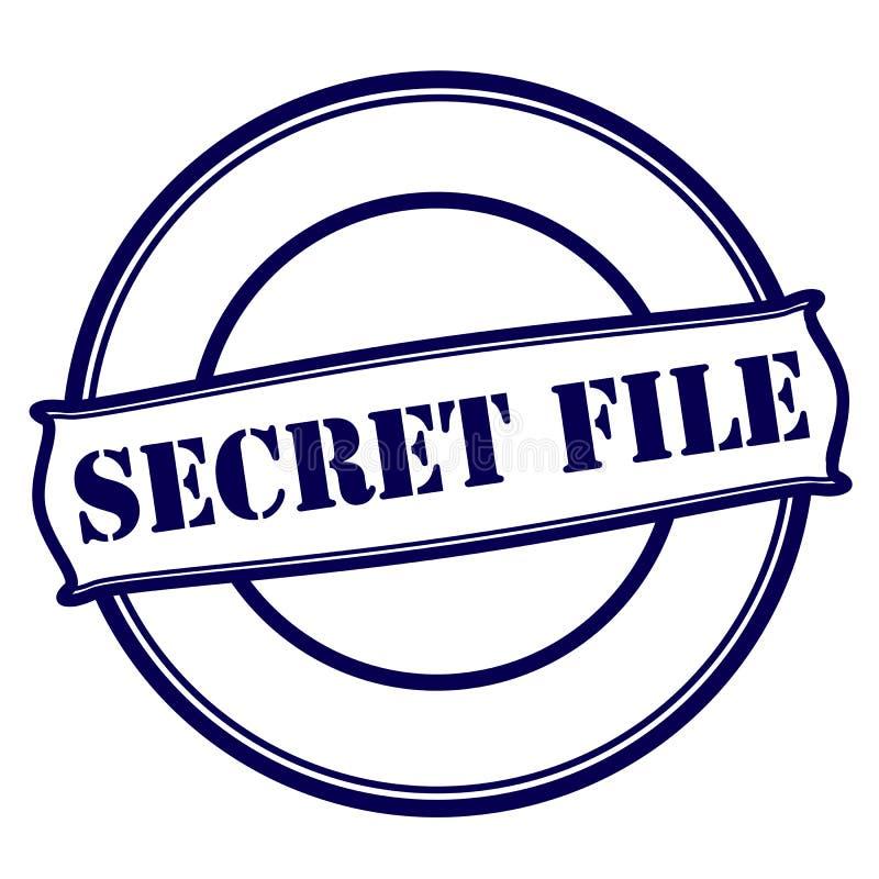 Dossier secret illustration stock