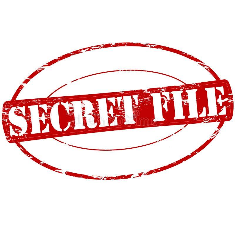Dossier secret illustration libre de droits