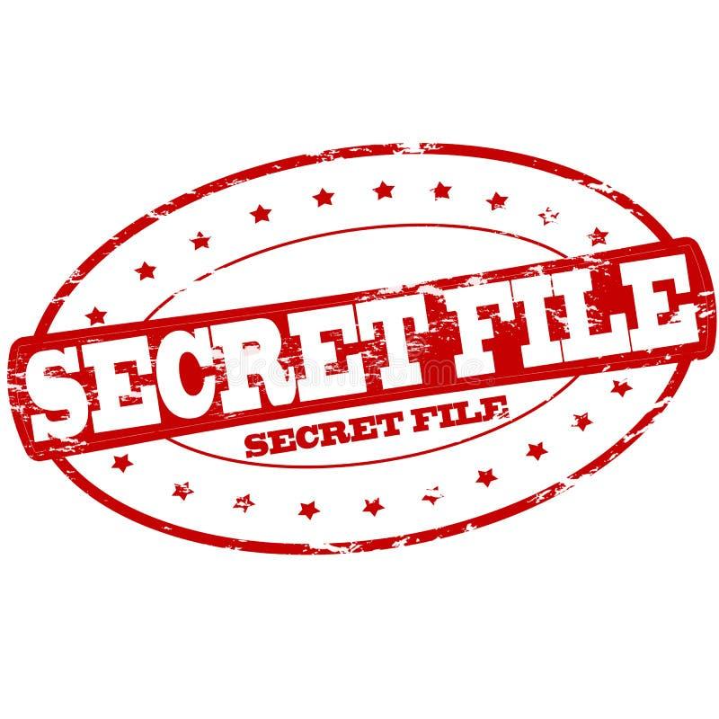 Dossier secret illustration de vecteur
