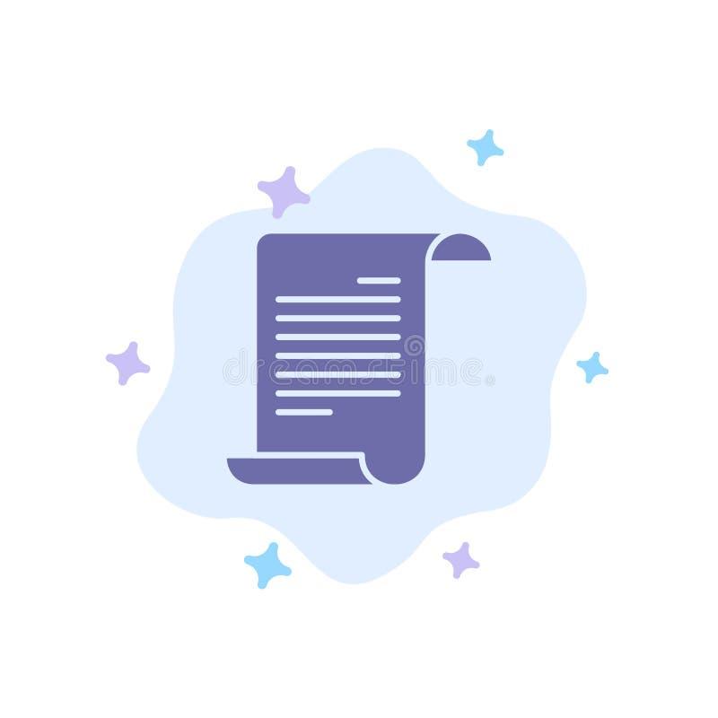 Dossier, texte, Américain, icône bleue des Etats-Unis sur le fond abstrait de nuage illustration stock