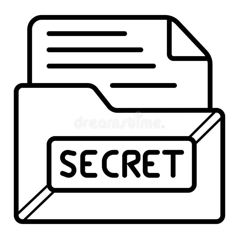 Dossierbescherming Gegevensbeveiliging en privacyconcept Veilige vertrouwelijke informatie stock illustratie