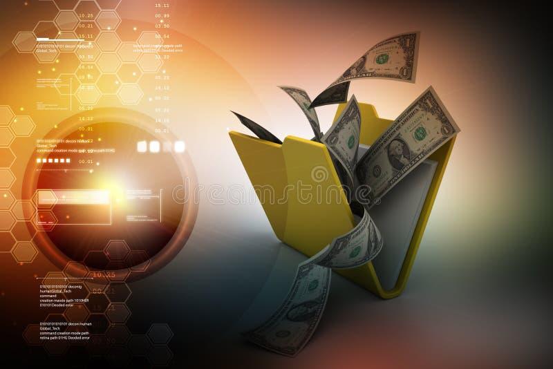 Dossieromslag met munt royalty-vrije illustratie