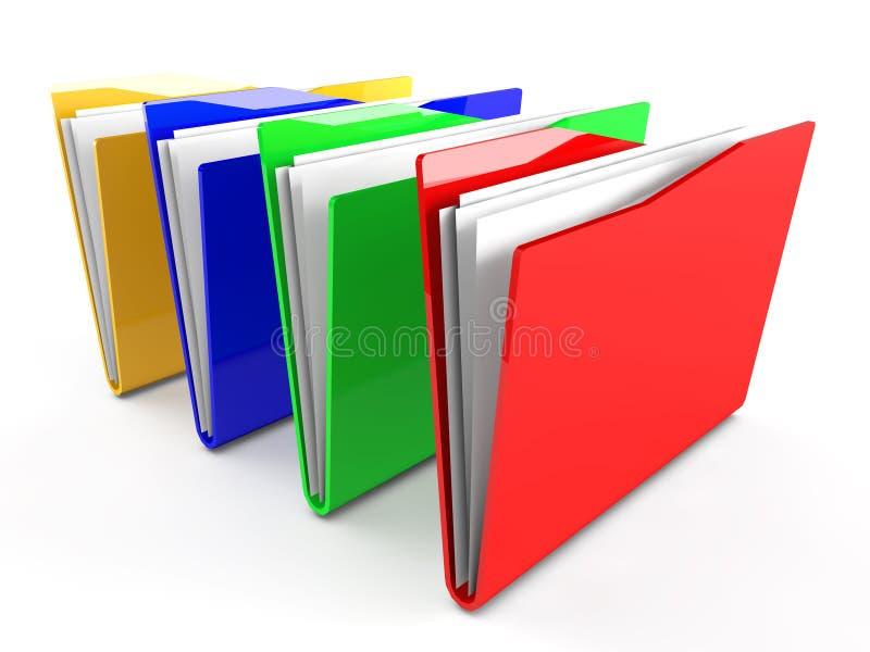 dossiers 3d avec le papier illustration libre de droits