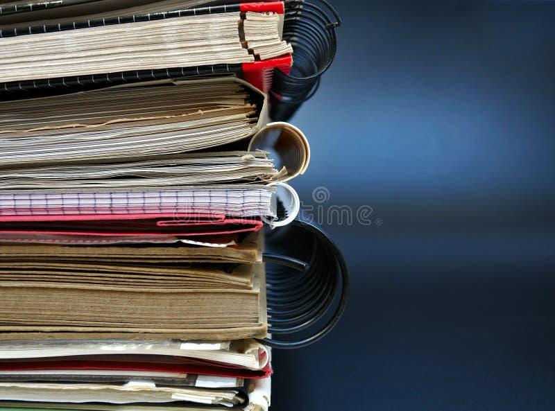 Dossiers de bureau photo stock