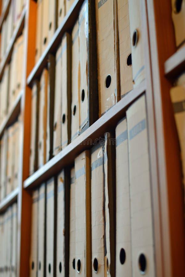 Dossiers de voûte de levier photographie stock libre de droits