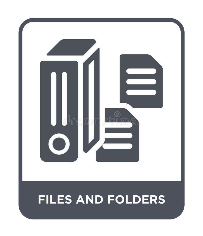 dossiers en omslagenpictogram in in ontwerpstijl dossiers en omslagenpictogram op witte achtergrond wordt geïsoleerd die dossiers vector illustratie