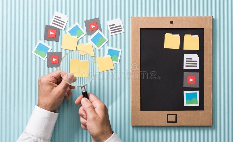 Dossiersselectie en beheer stock afbeelding