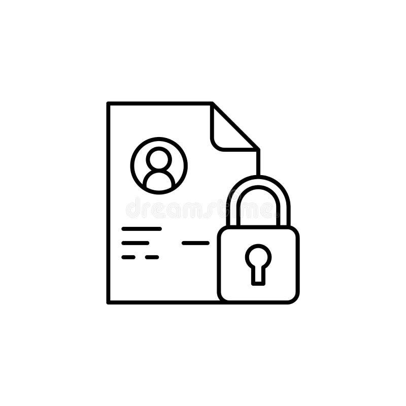 Dostęp, dokument ikona Element ogólni dane projektuje ikonę dla mobilnych pojęcia i sieci apps Cienki linia dostęp, dokument ikon ilustracja wektor