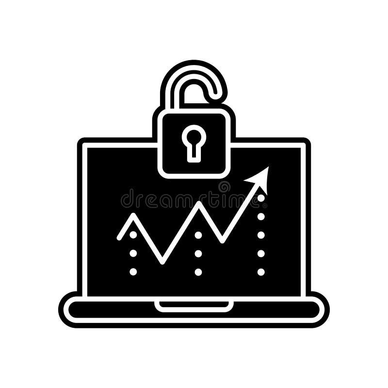 Dostęp, pogwałcenie ikona Element Ogólnych dane projekt dla mobilnego pojęcia i sieci apps ikony Glif, płaska ikona dla strona in royalty ilustracja