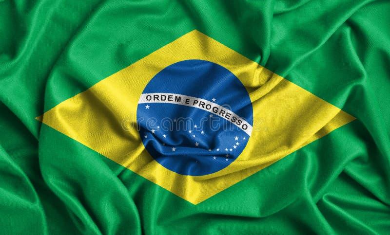 dostępne flagi Brazylijskie okulary stylu wektora zdjęcie stock
