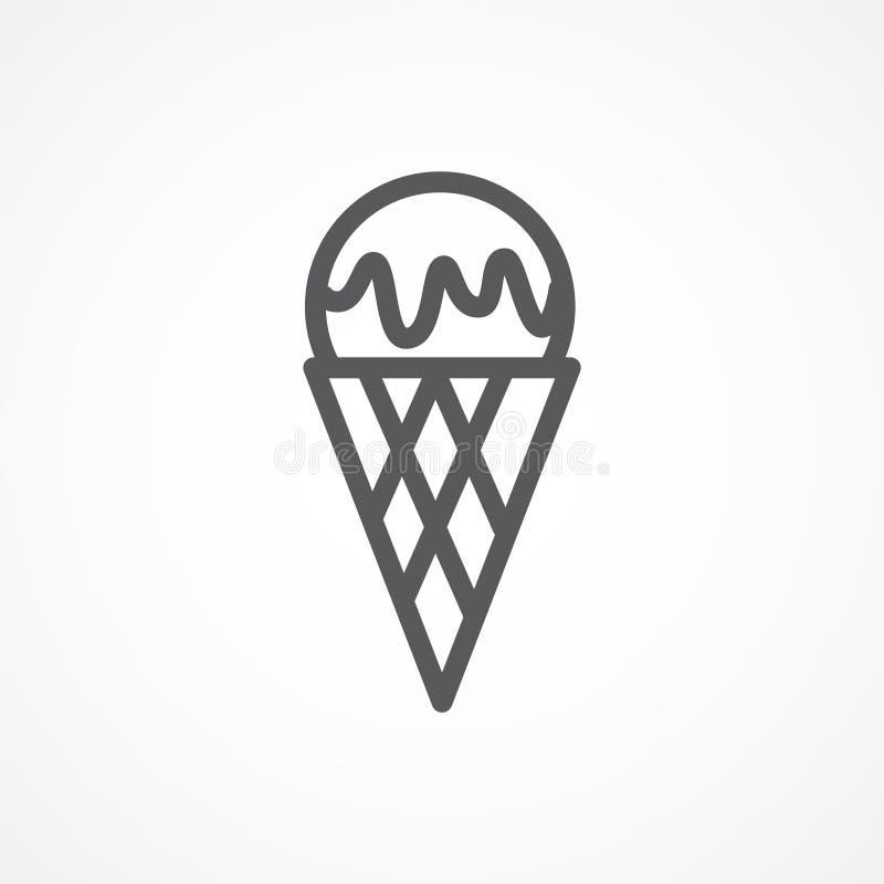 dostępny śmietanki lodu ikony wektor royalty ilustracja