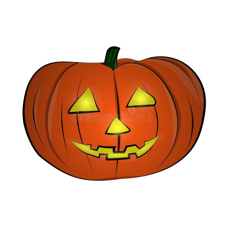dostępny eps Halloween bani wektor Szczęśliwa twarz Odizolowywająca Na Białym tle ilustracja wektor