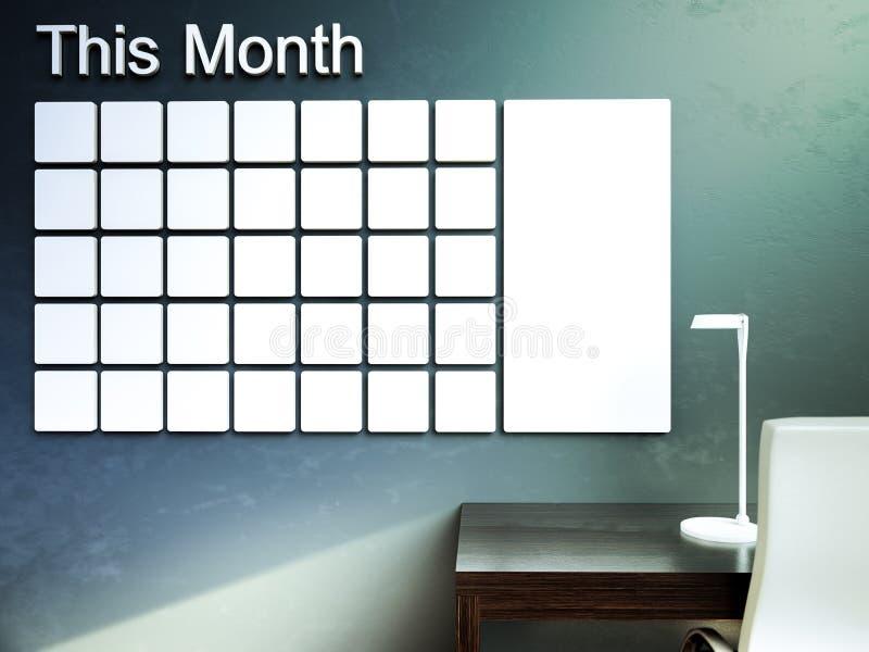 dostępny kalendarz więcej stron serii ściana Rozkład notatki zarządzania organizatora pojęcie royalty ilustracja