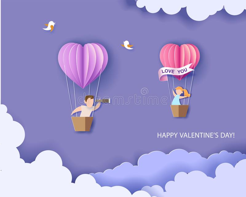 dostępny karciany dzień kartoteki valentines wektor ilustracji
