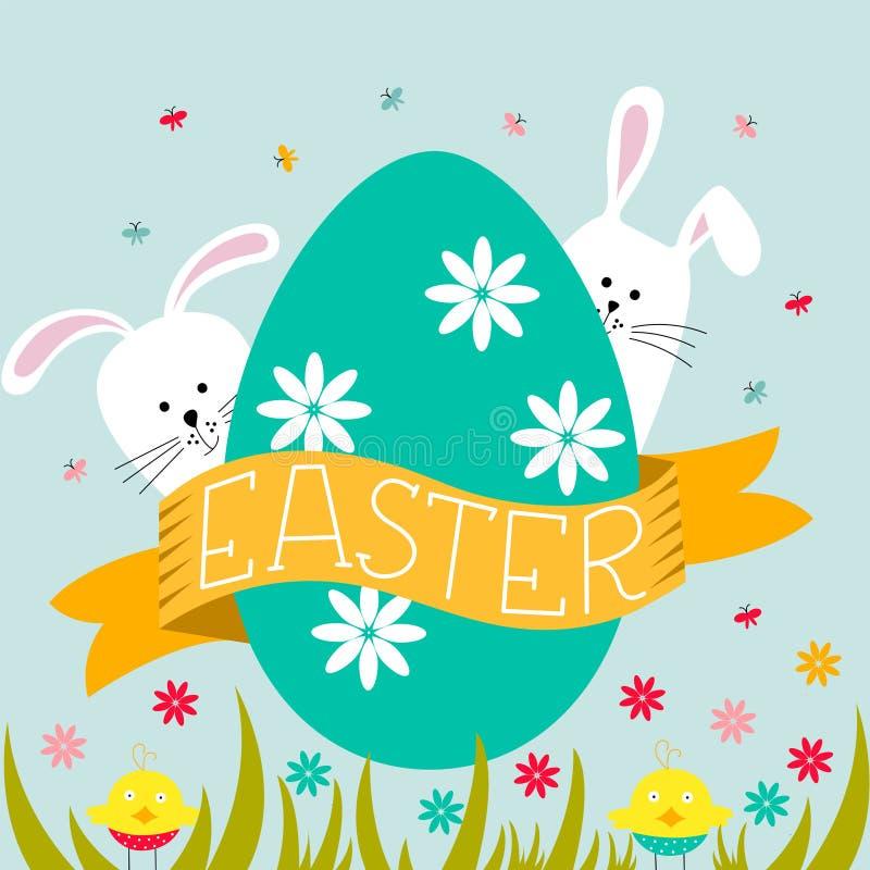 dostępny karciany Easter eps kartoteki powitanie również zwrócić corel ilustracji wektora ilustracja wektor