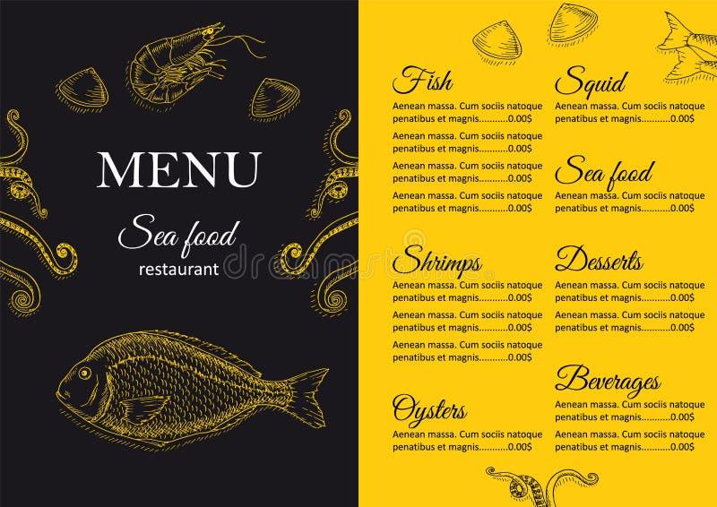 dostępny projekta menu restauraci wektor royalty ilustracja