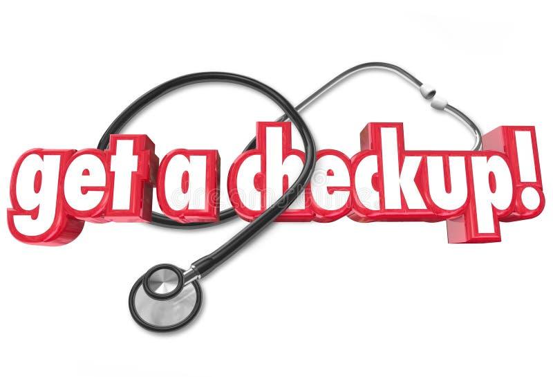 Dostaje Checkup lekarce Nominacyjnego Fizycznych zdrowie cenienie royalty ilustracja
