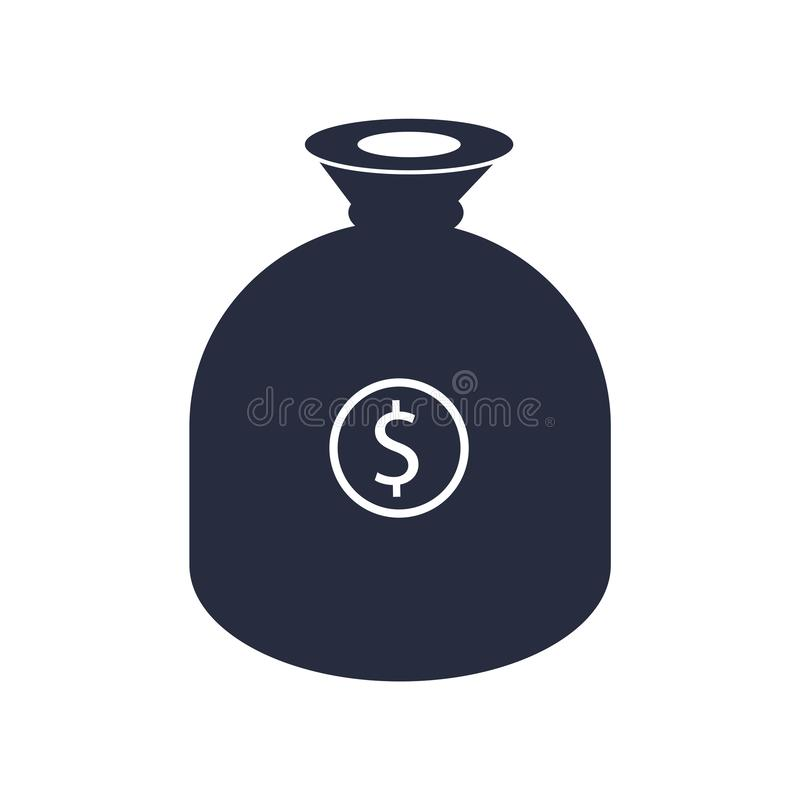 Dostaje pieniądze ikony wektoru znaka i symbol odizolowywający na białym tle, Dostaje pieniądze logo pojęcie ilustracji
