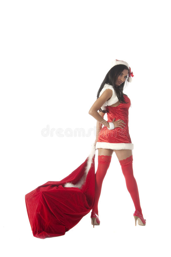 dostarcza mrs Santa fotografia stock
