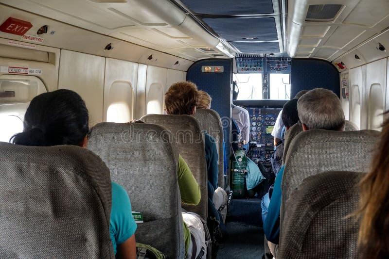 Dostawać Lukla, Nepal zdjęcie stock