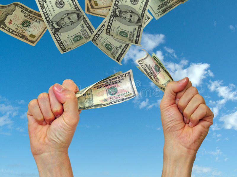 dostawać pieniądze zdjęcia royalty free