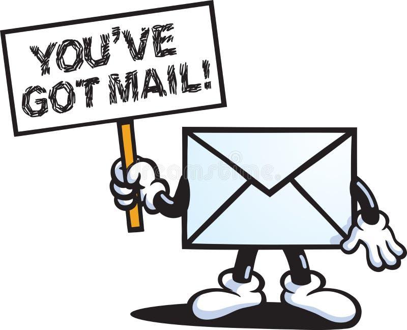 dostawać poczta ve ty royalty ilustracja