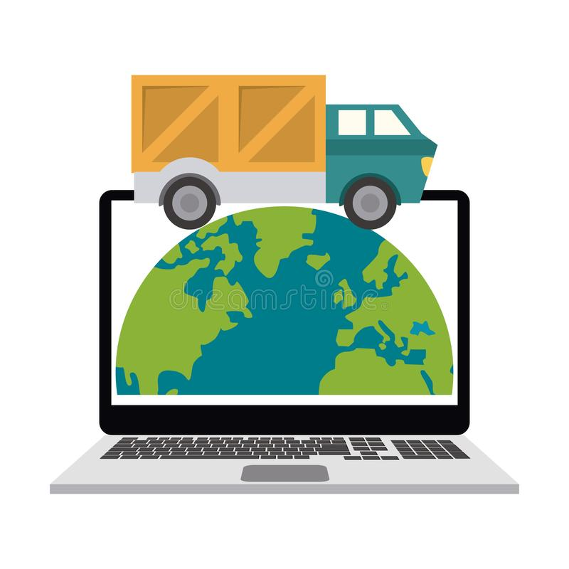 Dostawa i logistyki ilustracja wektor