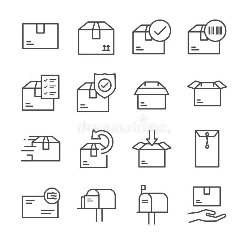 Dostawa i logistyki wykładamy ikonę ustawiamy 2 ilustracja wektor
