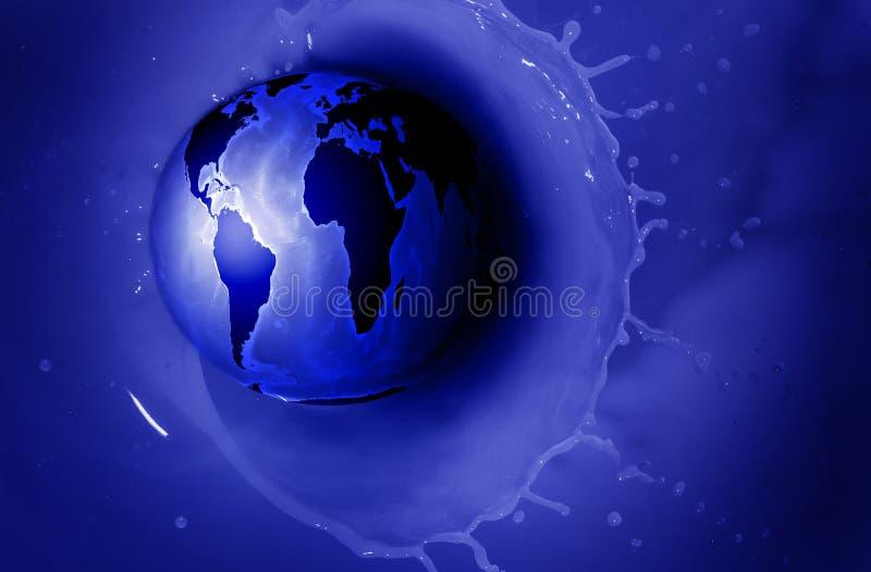 Dostawa wody świat royalty ilustracja