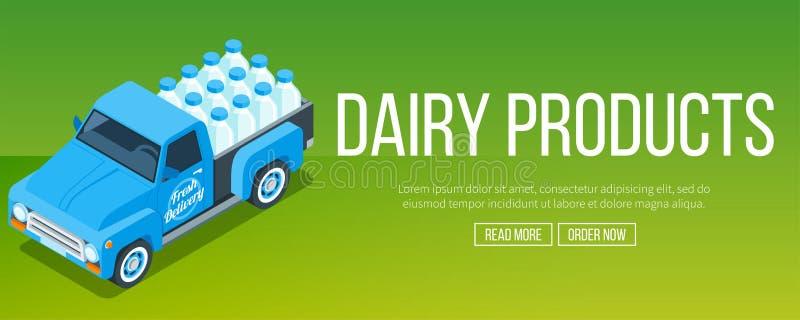 Dostawy mleka ciężarówka ilustracja wektor