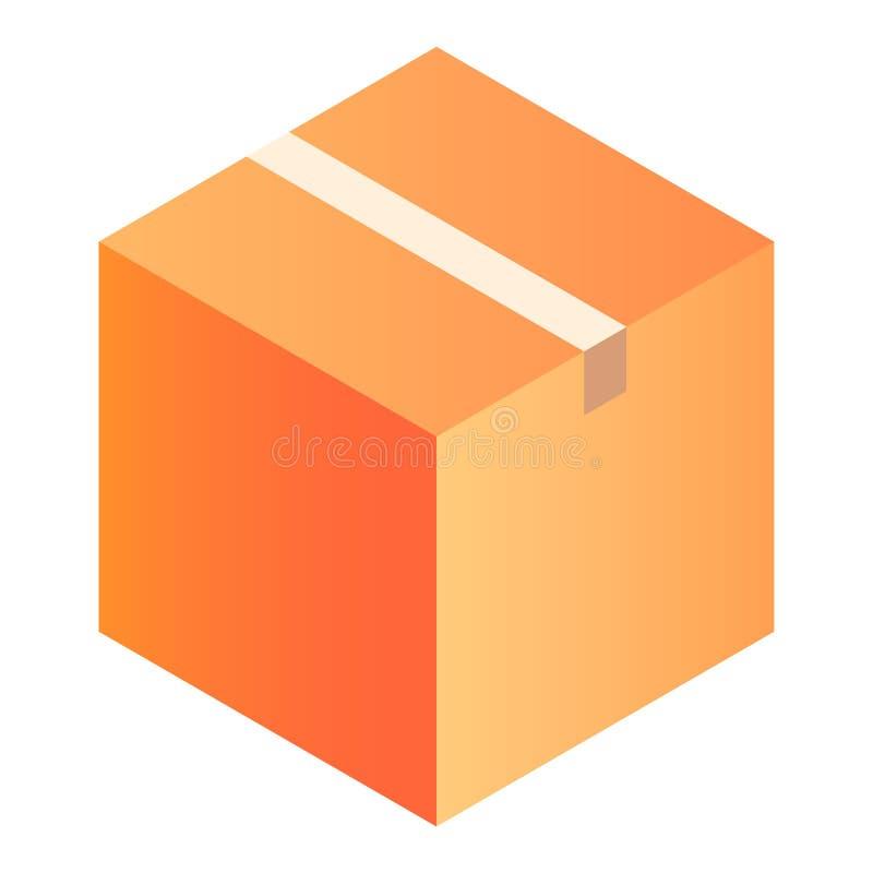 Dostawy pudełkowata ikona, isometric styl royalty ilustracja